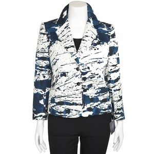 Escada Fantasy Print Stretch Cotton Jacket
